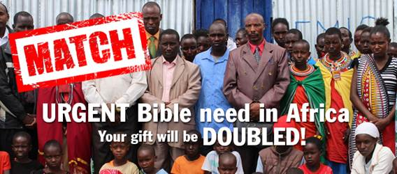 Help meet the urgent need for Bibles in Africa today.