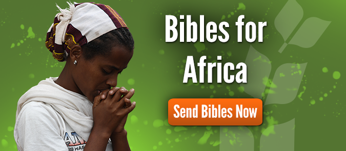 Send Bibles to Africa Now.
