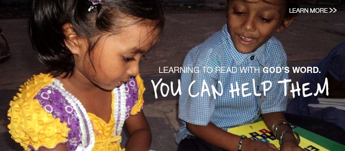 Learning to read with God's Word through Bible-based Literacy.