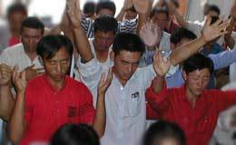 Chinese Christians worship in one of China's Churches where persecution of Christians is on the rise.